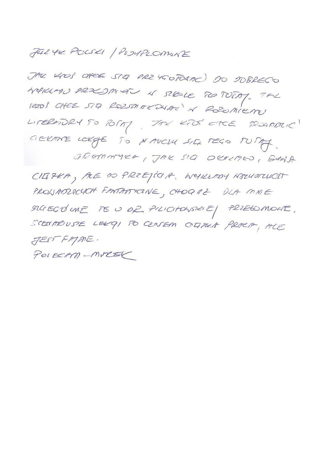 SWPR - piszą o nas - polecenie
