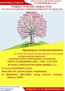 Konwersatoria roku akademickiego 2019/20