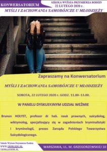 Konwersatorium 117: Myśli i zachowania samobójcze u młodzieży.