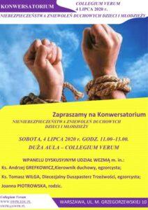 Konwersatorium Niebezpieczeństwa zniewoleń duchowych dzieci i młodzieży